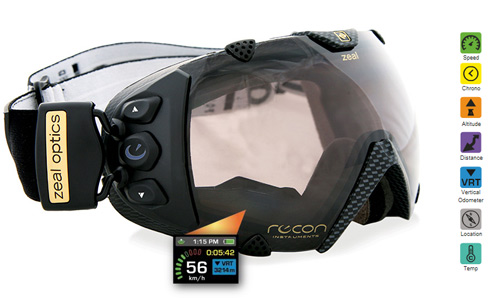 Ochelari de ski cu GPS încorporat
