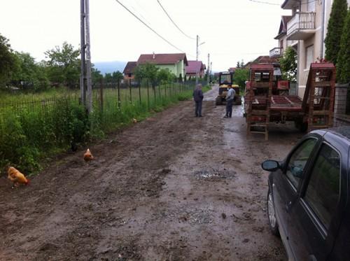 Strada Cornetului in timpul reparatiilor