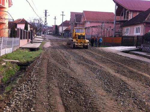 Strada Livezilor in timpul  reparatiilor