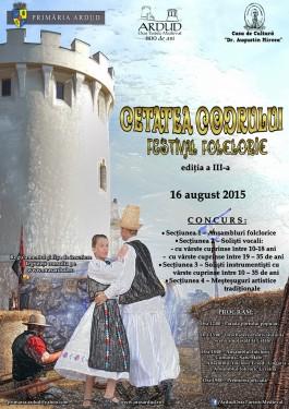 Afis Festivalul Folcloric Ardud 2015