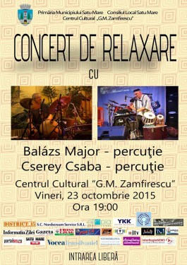 Concert relaxare 23 octombrie