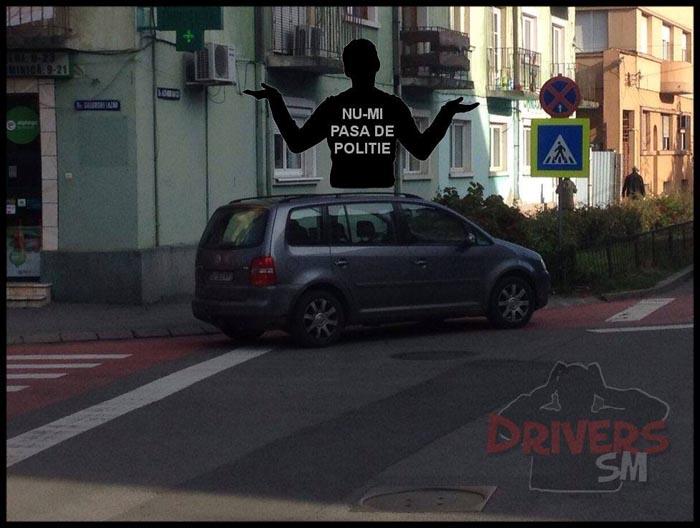 Șofer(iță) cu tupeu: Nu-mi pasă de Poliție