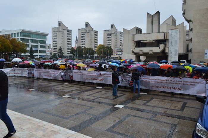 Miting împotriva căsătoriilor gay în centrul Sătmarului (Foto&video)