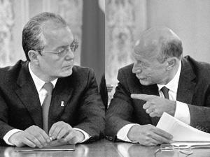 Basescu si Boc ar putea decide remanierea miercuri