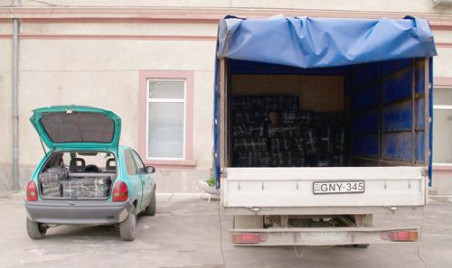 10500 pachete de ţigări de contrabandă