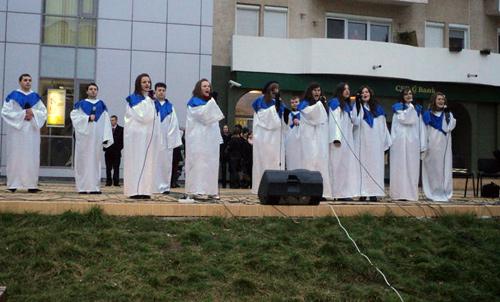 Concert de colinde pe Aleea Coposu
