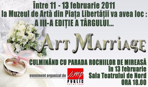 """""""Art Mariage"""" – târg de nunţi cu frumuseţi la final"""