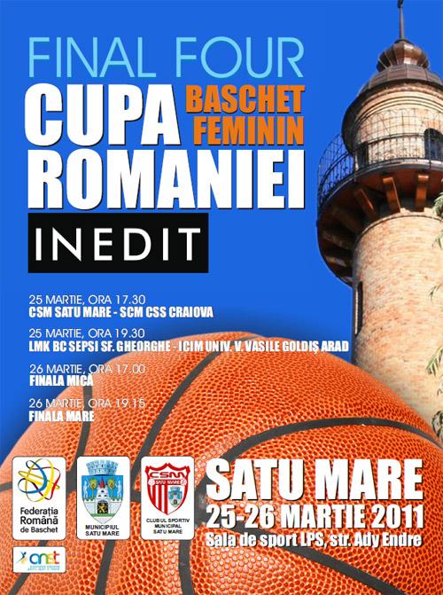TVR3 va transmite în direct finala Cupei României la baschet feminin