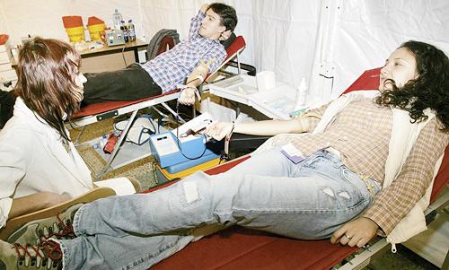 Campanie de promovare a acțiunii de donare de sânge