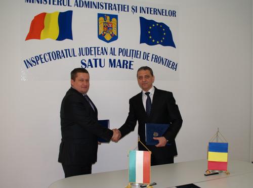 Întâlnire a poliţiştilor de frontieră români şi maghiari