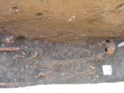 Schelet uman descoperit de arheologi la Satu Mare