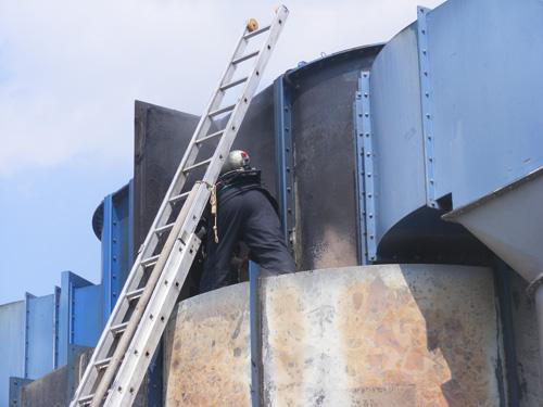 Incendiu la SC Sarmex SA Satu Mare