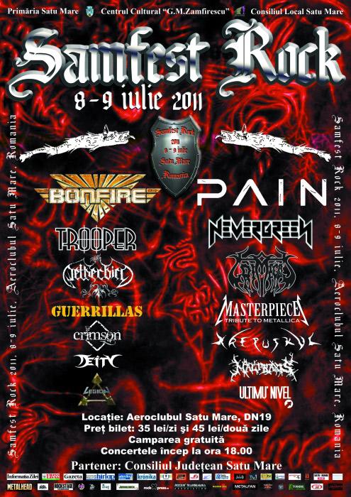 Samfest Rock – 8-9 iulie!