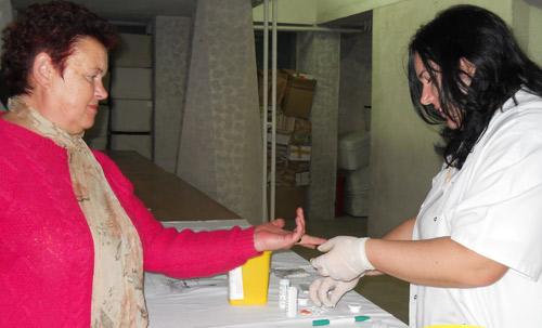 Careienii sunt așteptați să-și măsoare gratuit glicemia