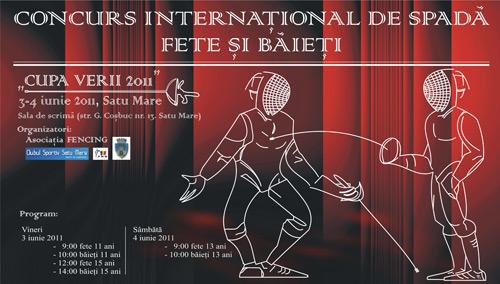 Concurs internațional de spadă la Satu Mare