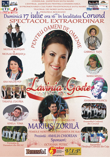 """Interpreta de muzică populară Lavinia Goste îşi lanseză CD-ul """"Pentru oameni de omenie"""""""