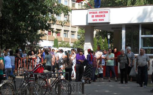 Alarmă aeriană în zona Spitalului Județean
