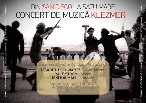 De la San Diego la Satu Mare – concert de muzică klezmer