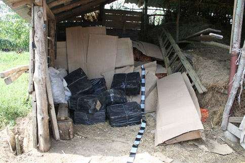 4.000 pachete de țigări descoperite la Cidreag