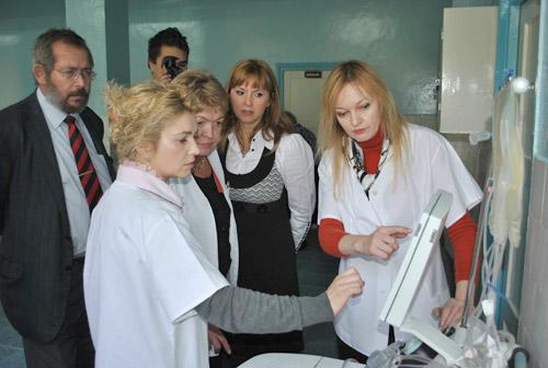 Echipament de afereză, la Centrul de Transfuzie Sanguină Satu Mare