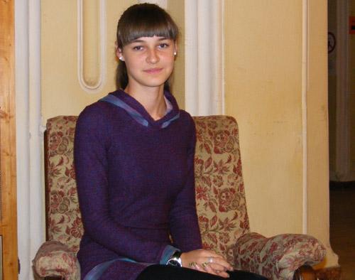 """Antonia Gordea – vicepreședintele Consiliului Elevilor de la Colegiul Național """"Ioan Slavici"""""""