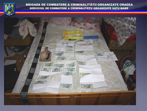 Falsificatori de bancnote, prinşi şi trimişi în judecată