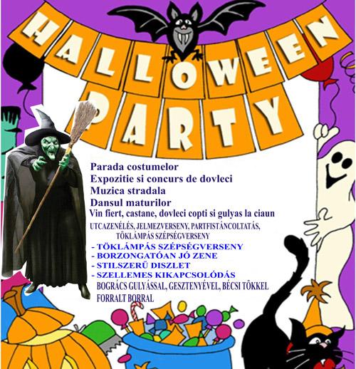 Halloween party în aer liber, la Carei