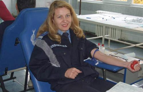 Jandarmeria donează sânge pentru România