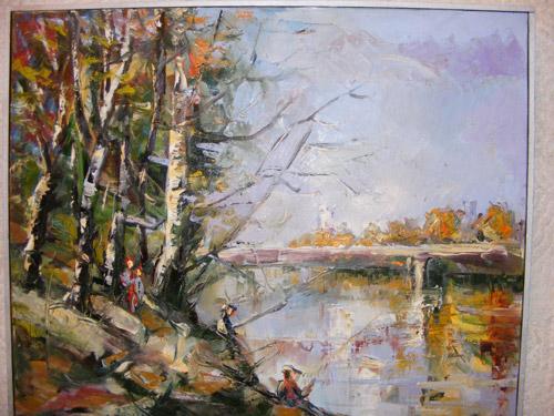 Picturi semnate de George Dan, la Galeria de Arte Plastice a CJ
