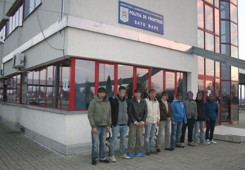 Grup de nouă migranți reținut la frontiera română-ungară