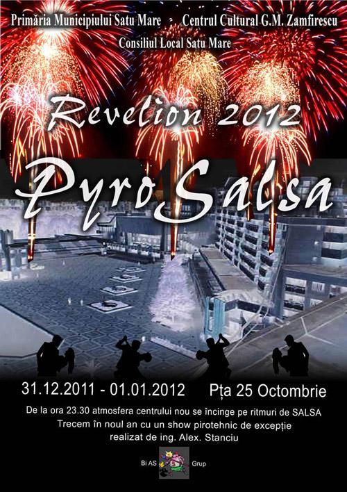 De Revelion, show pirotehnic, muzică şi salsa, în Centrul Nou