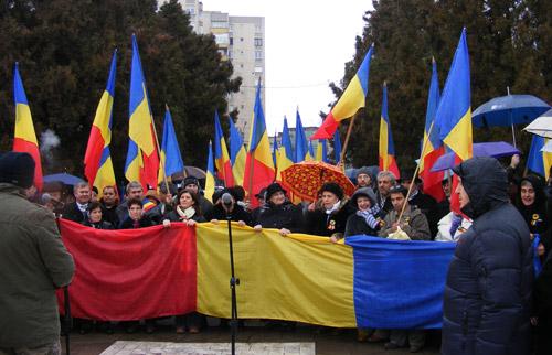 Sute de sătmăreni la sărbătorirea Zilei Unirii Principatelor Române