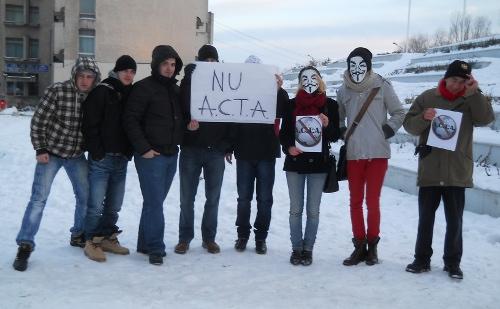 NU A.C.T.A.! – protest ratat la Satu Mare!