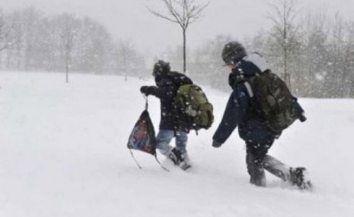 Şcoli închise din cauza zăpezii