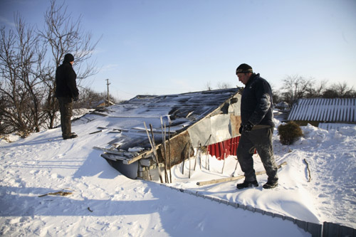 Ajutoare pentru victimele zăpezii