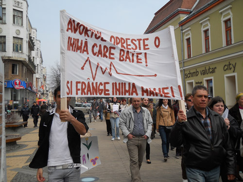 Marş pentru viaţă la Satu Mare