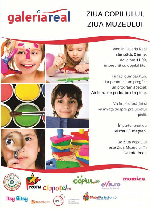 Ziua Copilului și Ziua Muzeului la Galeria Real Satu Mare
