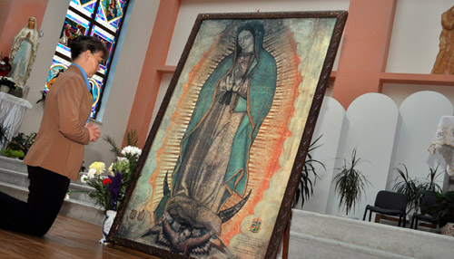 Icoana Sfintei Fecioare Maria de Guadalupe sosește astăzi la Carei