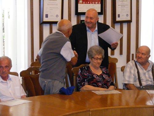 Premierea cuplurilor care au împlinit 50 de ani de căsnicie