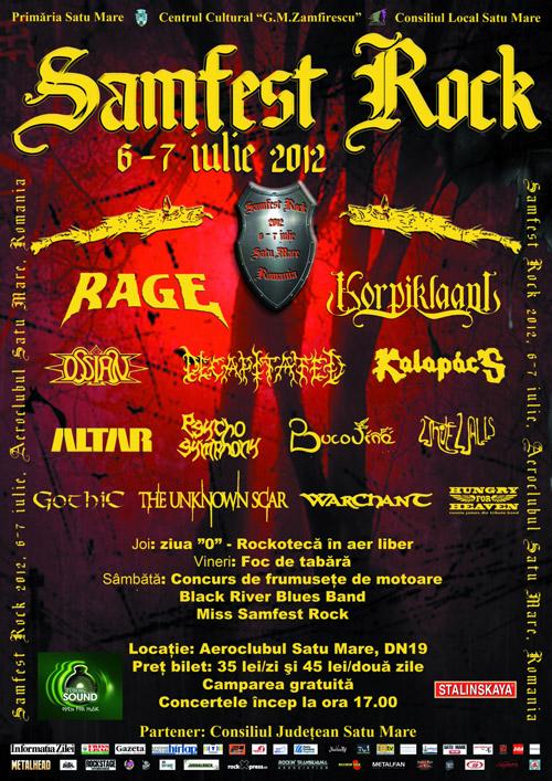 Programul Festivalului Internațional Samfest Rock Satu Mare 2012