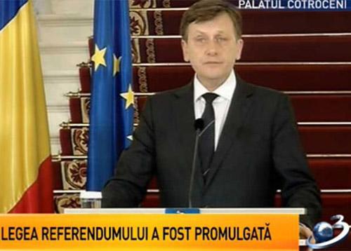 Referendumul din 29 va avea barem de participare 50% plus unu