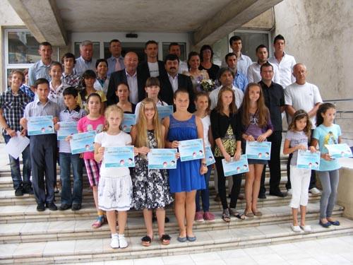 Scrimerii au fost astăzi premiaţi de conducerea Primăriei Satu Mare