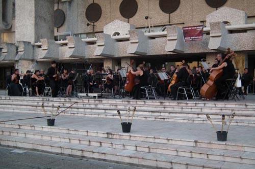 Serată muzicală de excepție, în Piaţa 25 Octombrie (video)