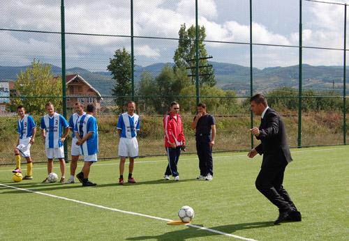 Adrian Ștef a participat la deschiderea oficială a bazei sportive de la Vama
