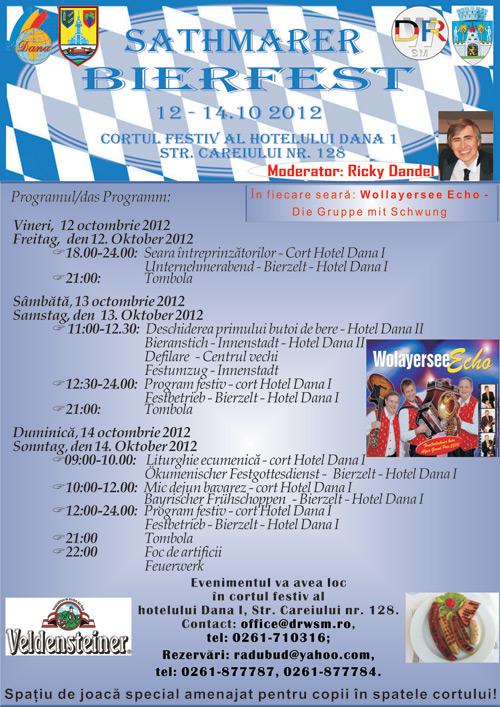 Programul SATHMARER BIERFEST 2012