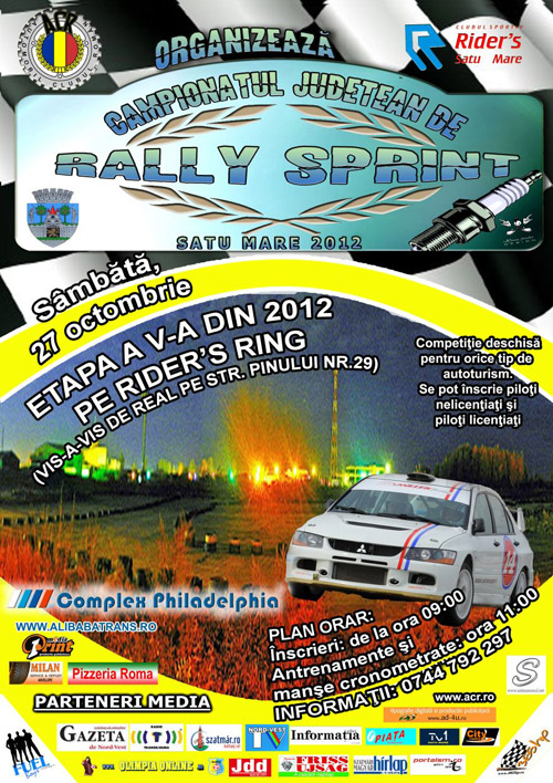 """Campionatul Judeţean de """"Rally Sprint"""" – etapa a V-a"""