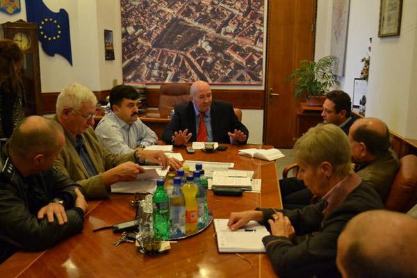 Întâlnire de lucru a Comandamentului de iarnă a municipiului