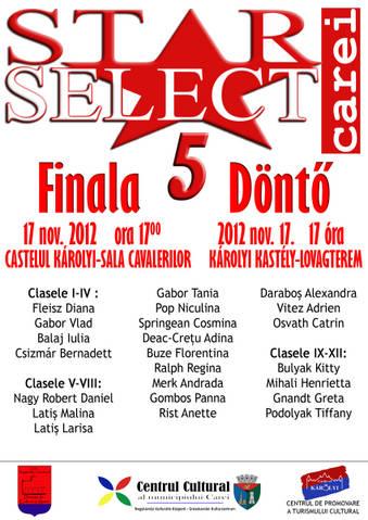 Carei: Finala concursului Star Select 5