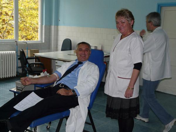 Jandarmii sătmăreni au început astăzi, campania de donare de sânge