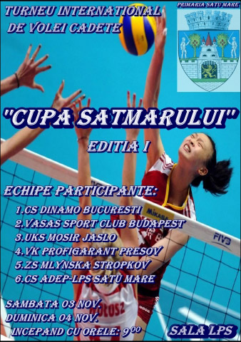 Cupa Sătmarului la Volei – ediţia I 2012